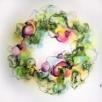 Springtime Sproutin.. by Rikke Darling | maleri