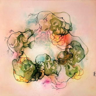Germinated by Rikke Darling | maleri