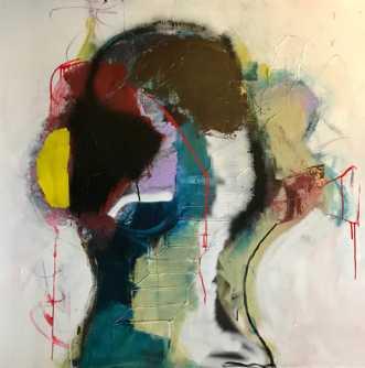 'fyrværkeri' by Tina Hee | maleri