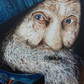 Hardy, portræt af e.. by Kate Piil | maleri