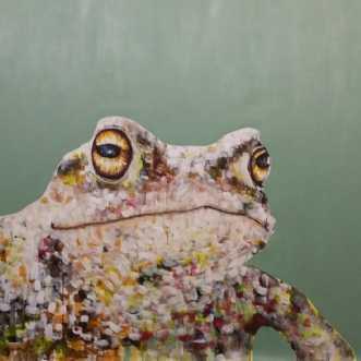 Tudse i spraglet fa.. by Kate Piil | maleri