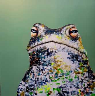 Tudse i sjove farve.. by Kate Piil | maleri