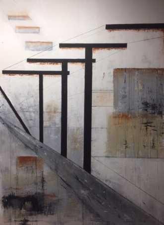 poles by Susanne Wiese | maleri