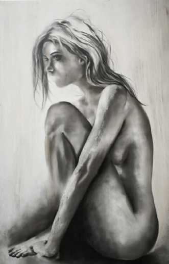 Tavshed by Katja Dahl | maleri
