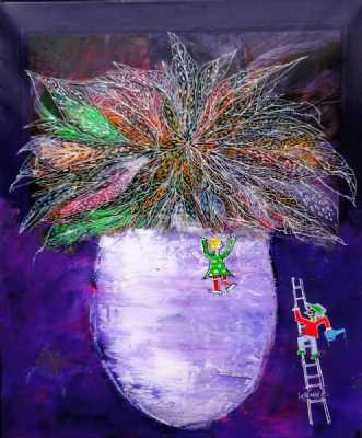 Høt til vejrs by Kenn Arild | maleri
