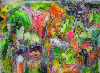 Ansigter  by Kenn Arild | maleri