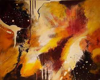 Abstrakt efterår by Kirsten Villarruel | maleri