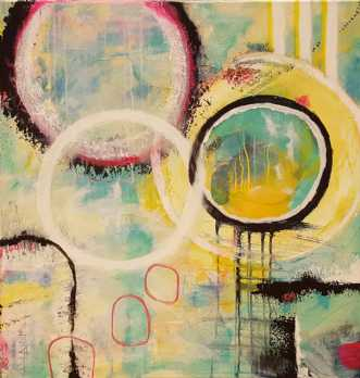 Forårsfornemmelser by Kirsten Villarruel | maleri