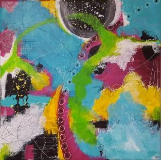 Craziness by Kirsten Villarruel | maleri