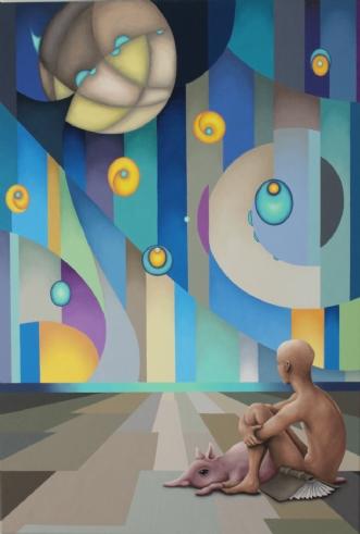 Ballonøvelser by Janna Espenhain | maleri