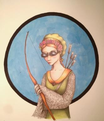 Hvem kender sandhed.. by Janna Espenhain | tegning