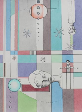 Med bidselsko og te.. by Janna Espenhain | tegning
