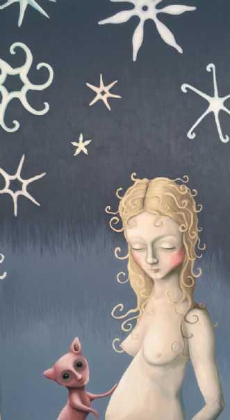 Chokket kom først s.. by Janna Espenhain | maleri