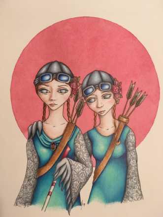 Vi er ikke blinde b.. by Janna Espenhain | maleri