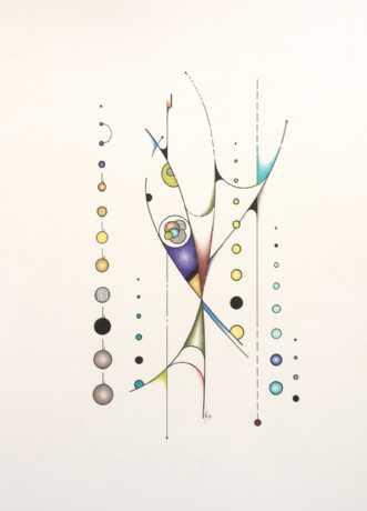 Mit liv er gået i f.. by Janna Espenhain | maleri