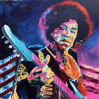 Purple haze! by Allan Buch | maleri