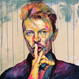 Bowie Shhh...! by Allan Buch | maleri