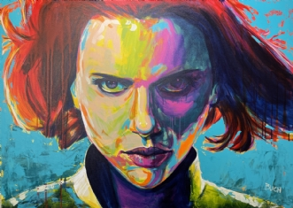 Black Widow - Scarl.. by Allan Buch | maleri