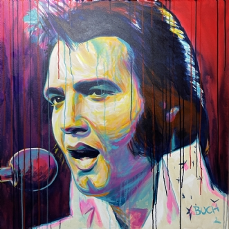 Elvis Presley by Allan Buch | maleri