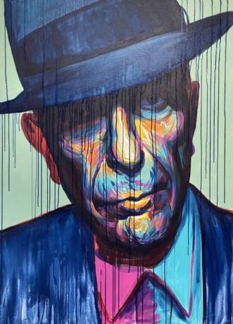Leonard Cohen by Allan Buch | maleri