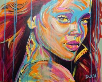 Rihanna by Allan Buch | maleri