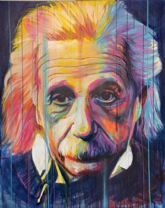 Einstein by Allan Buch | maleri