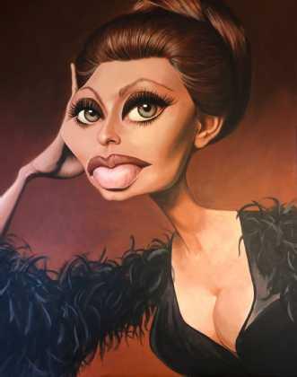 Sophia Loren by Allan Buch | maleri
