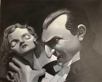Draculas brud (Bela.. by Allan Buch | maleri