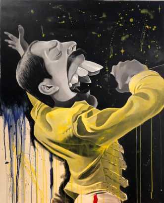 Freddie Mercury by Allan Buch | maleri