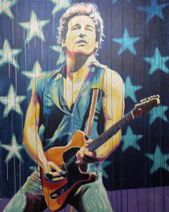 Bruce Springsteen by Allan Buch | maleri