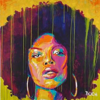 Face II by Allan Buch | maleri
