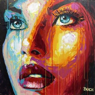 Faces VI by Allan Buch | maleri