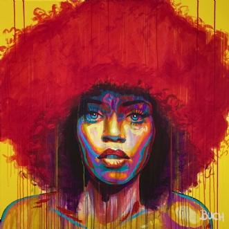 Face III by Allan Buch | maleri