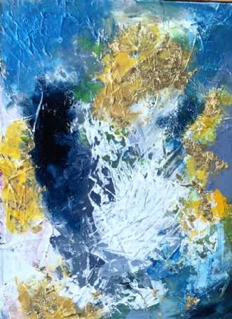 Himlen og nuet 1 by Inge Thøgersen | maleri