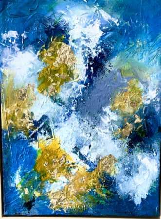 Himlen og nuet 2 by Inge Thøgersen | maleri