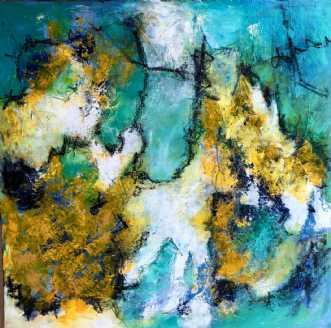 Jadekatten/ Jade ca.. by Inge Thøgersen | maleri