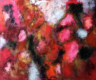 Love and peace by Inge Thøgersen   maleri