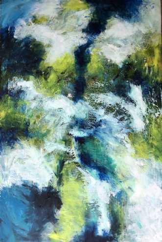 in deep water by Inge Thøgersen   maleri