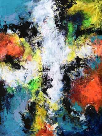 Color my day by Inge Thøgersen | maleri