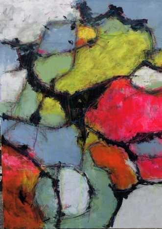 Farvernes fanfare by Inge Thøgersen | maleri