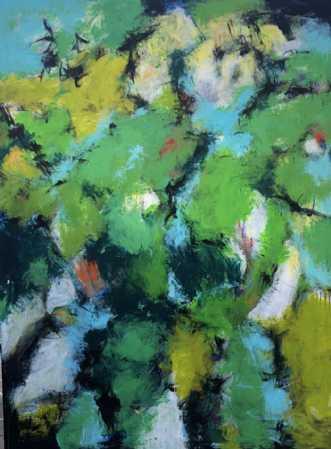 Party in my garden by Inge Thøgersen | maleri