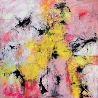 Pink champagne by Inge Thøgersen | maleri