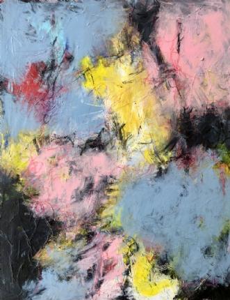 Pink hope in the sk.. by Inge Thøgersen | maleri