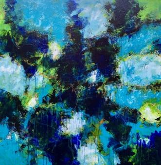 Big blue beginningafInge Thøgersen