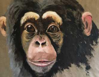 Chimpanse by Lene Astrup | unikaramme