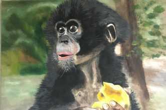 Mango er godt by Lene Astrup | maleri