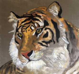Tigerdyr by Lene Astrup | maleri