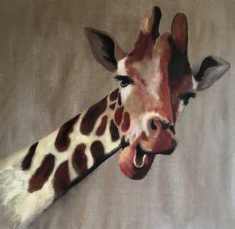 Giraf by Lene Astrup | maleri