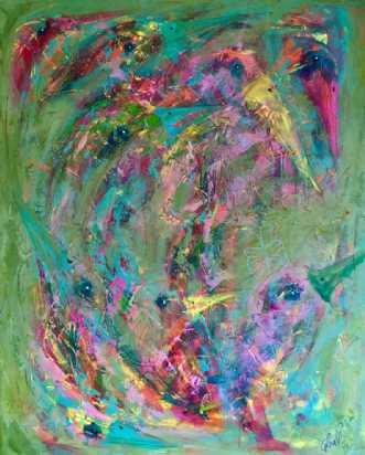 Freedom (den røde s.. by Lea Peters | maleri