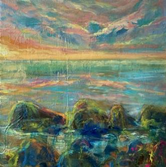 Gilleleje Strand by Lea Peters | maleri